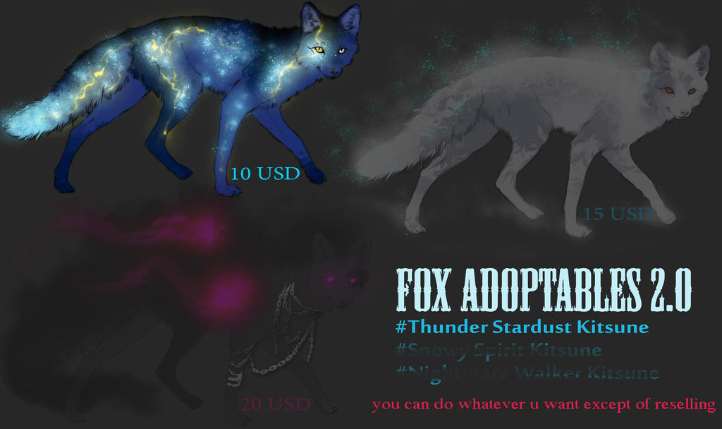 Fox Adopts 2.0 [ALL SOLD] by WhiteSpiritWolf