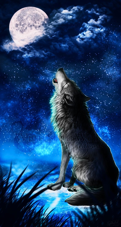 Howling moon by whitespiritwolf on deviantart - Wolf howling hd ...