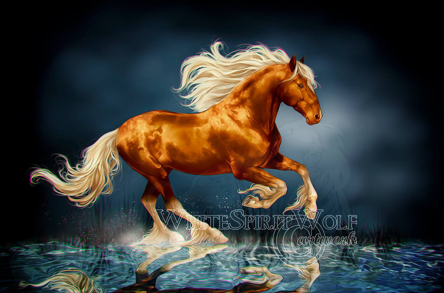 .: Beautiful Stallion :. by WhiteSpiritWolf