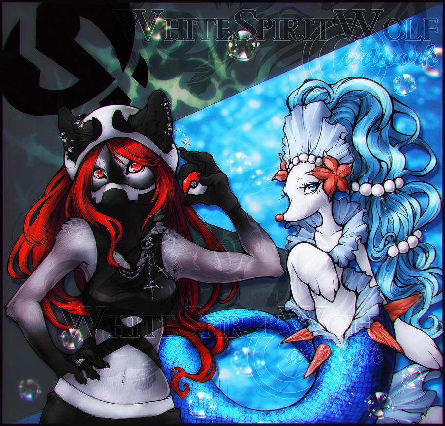 .: Seras and Primarina :. by WhiteSpiritWolf
