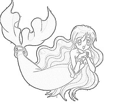 anime mermaid coloring pages Manga Mermaid Coloring Pages | Coloring Pages anime mermaid coloring pages