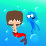 MerMac and the Bloo Jellyfish by lyraspace