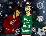 Christmas Dorks Commish by Engineer-LeeRoy