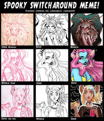 Switcharound Meme: Monster Girls by Hyacinth-Zofia