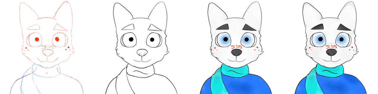 Anthro Headshot Drawing Process by 212b