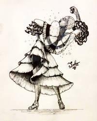 Peony fairy - Flamenco dancer