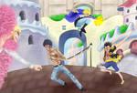 Luffy Sabo Law vs Doflamingo