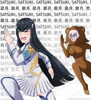 Satsuki and Pedomom by h0saki