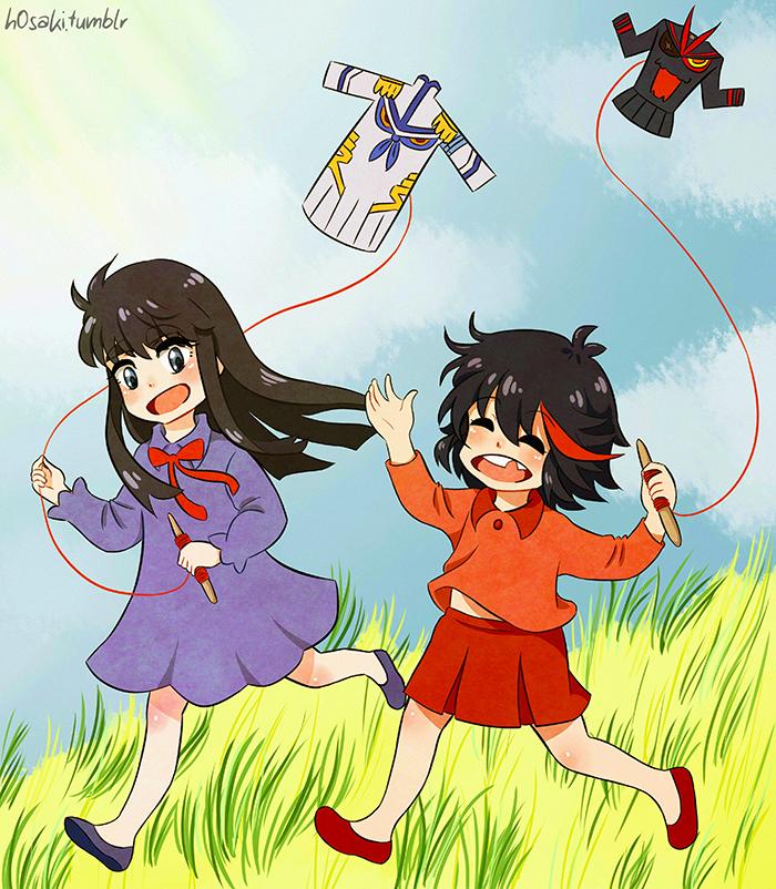 Ryuko and Satsuki (Kids) by h0saki