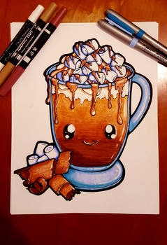 Coloured - Dessertie   Hot Chocolate Lineart