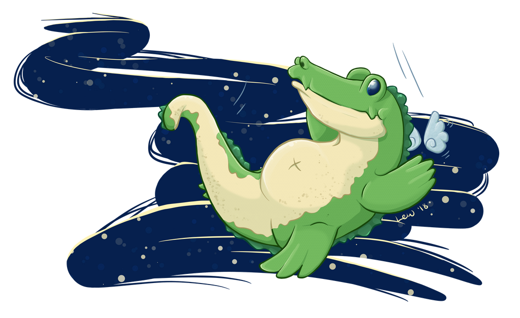 Sky Gators in Flight by Lil-Lewlew
