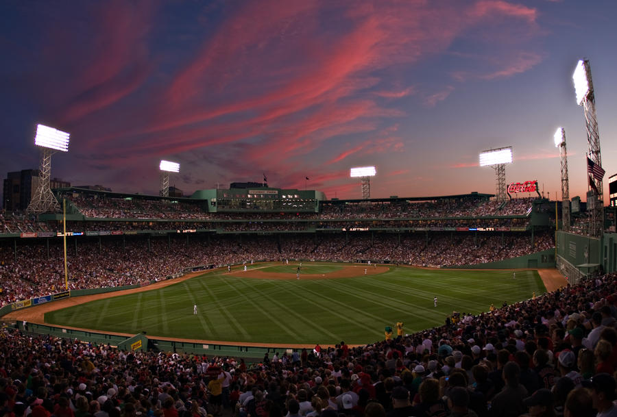 Fenway Park Sunset By Sharktankfan