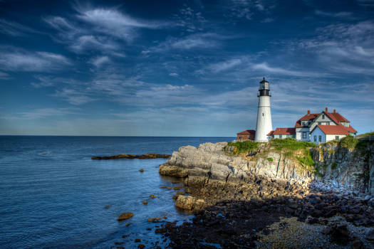 Summers Day At Portland Head Light