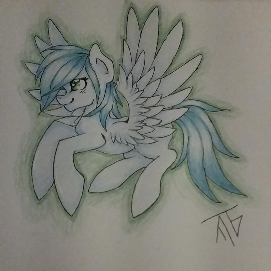 random winged pony by Taigatanfan