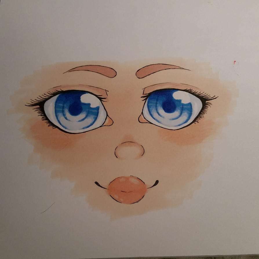 human/anime face colour try by Taigatanfan