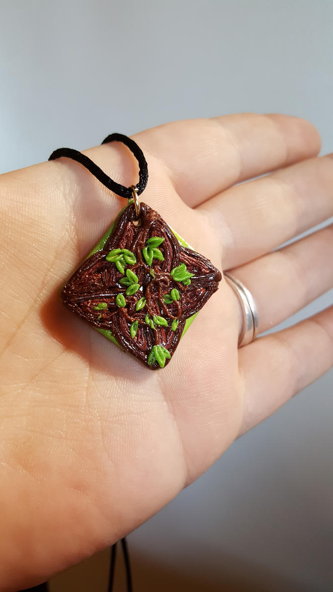 Old Ways Polymer Clay Pendant by Zen-In-Motion