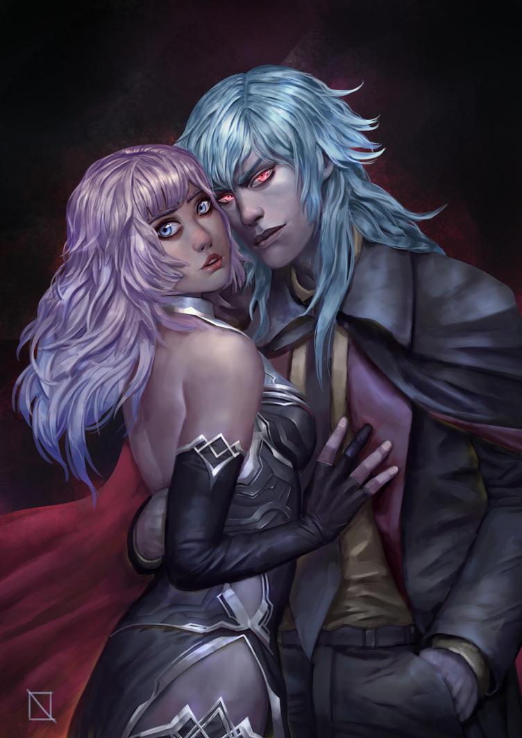 Ofilia and Raven by bukandewa