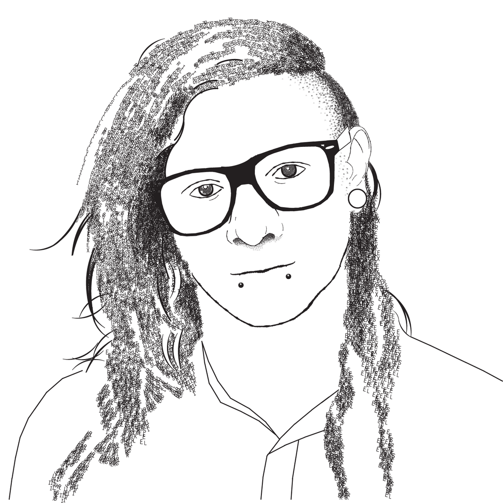 Skrillex Name Drawing Skrillex by iwill-be-justme
