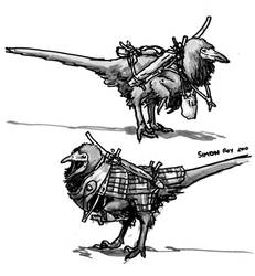 Clothing of the Dinosauroids 2 by povorot