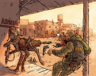 Shootout in Town Square by povorot
