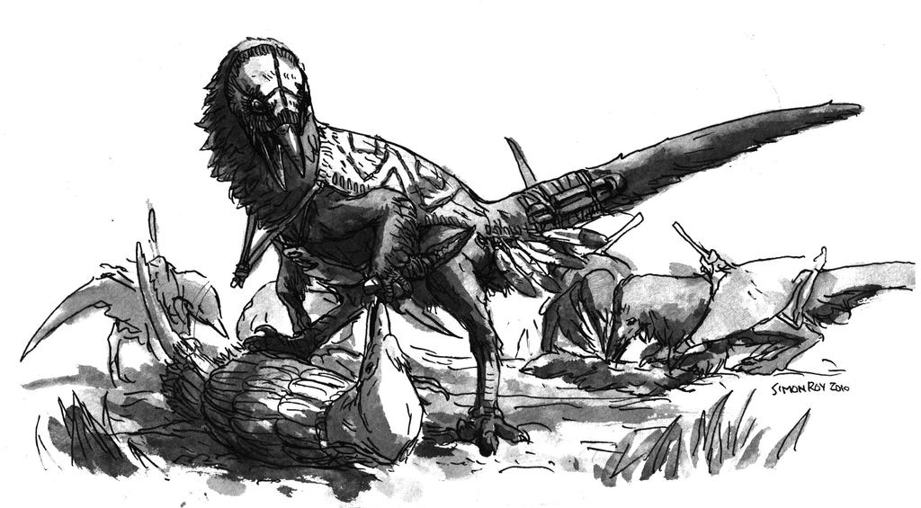Dinosauroid Slaver Chief! by povorot