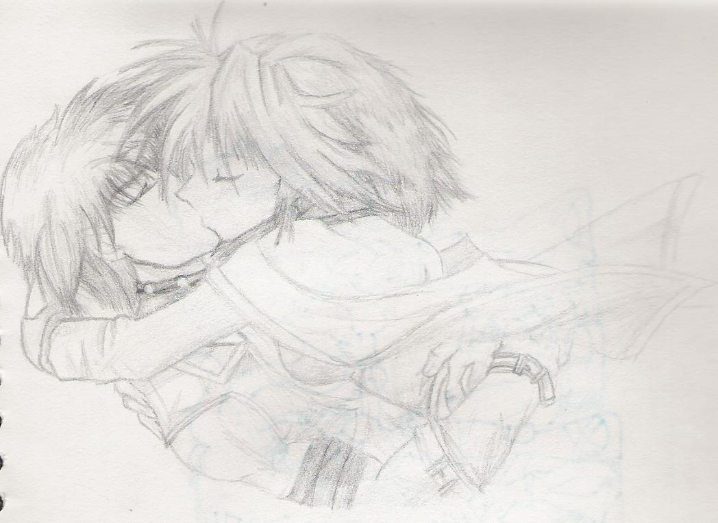 Gambar anime art pencil couple drawing library xnekomikux deviantart saru