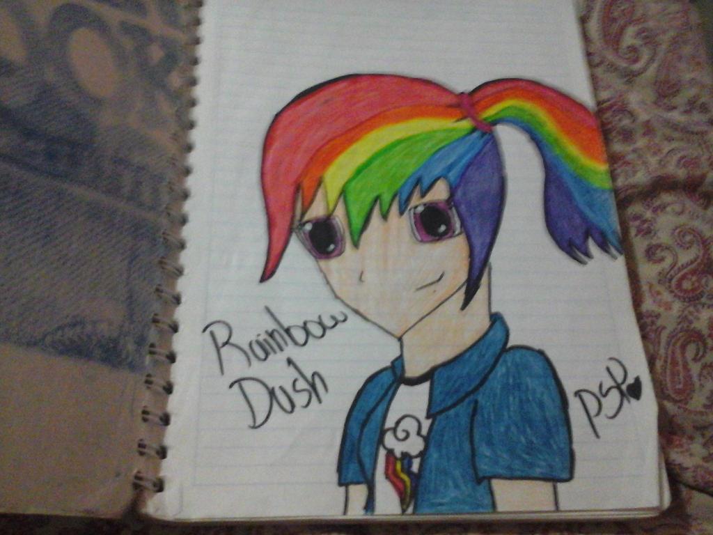 rainbow dash anime by CamilaFlutterPie