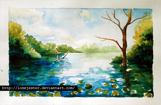 watercolor drawing