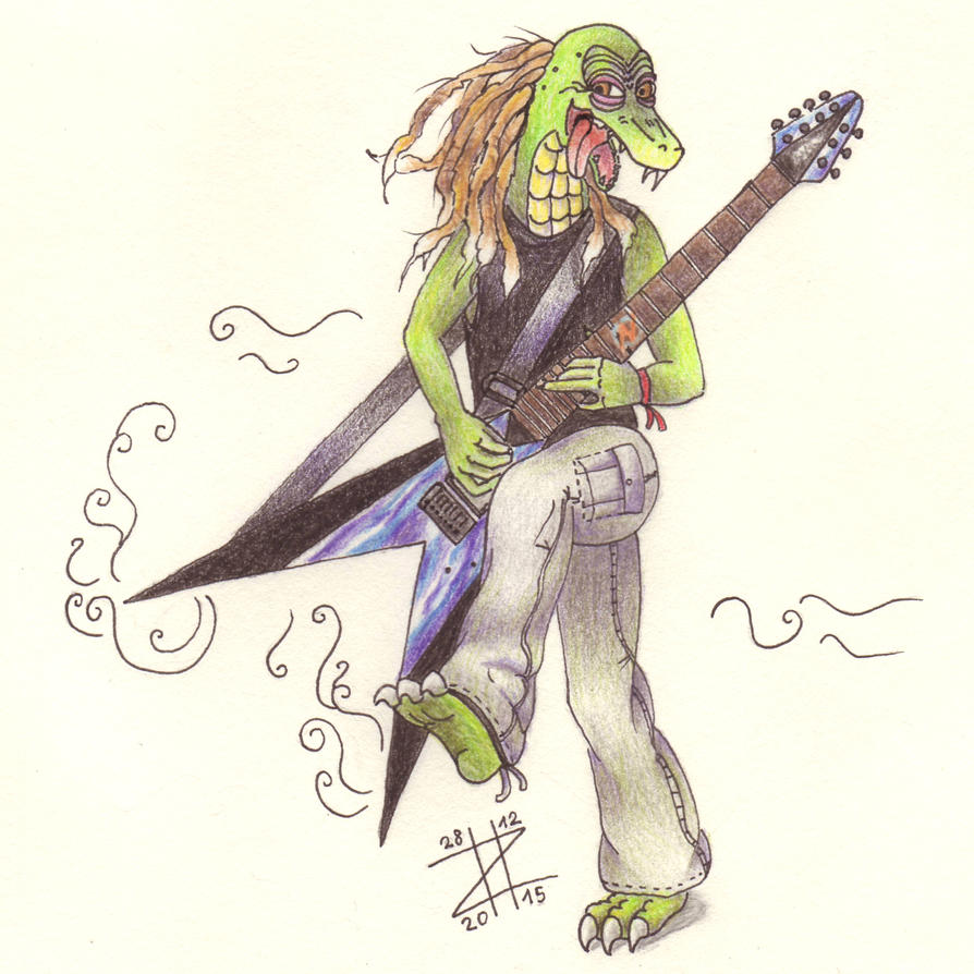 Ziltoid with the Ziltoid V by Amaterasuscorp1