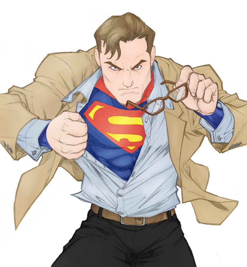 This is a photo of Gargantuan Clark Kent Drawing
