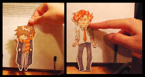 Harry and Ron - paper child by testdrive
