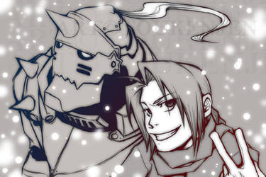 FMA - brothers in snow by testdrive