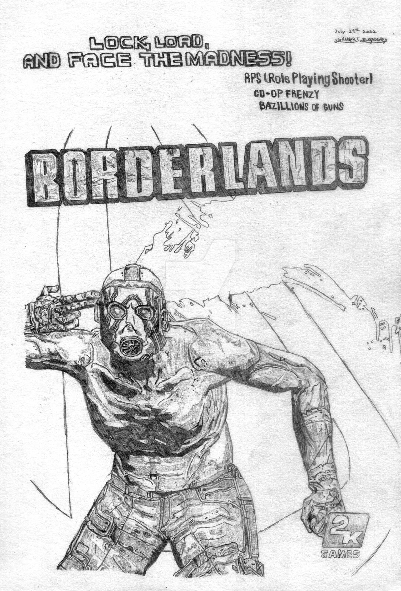 Borderlands cover by gamers blended on deviantart - Borderlands 3 box art wallpaper ...