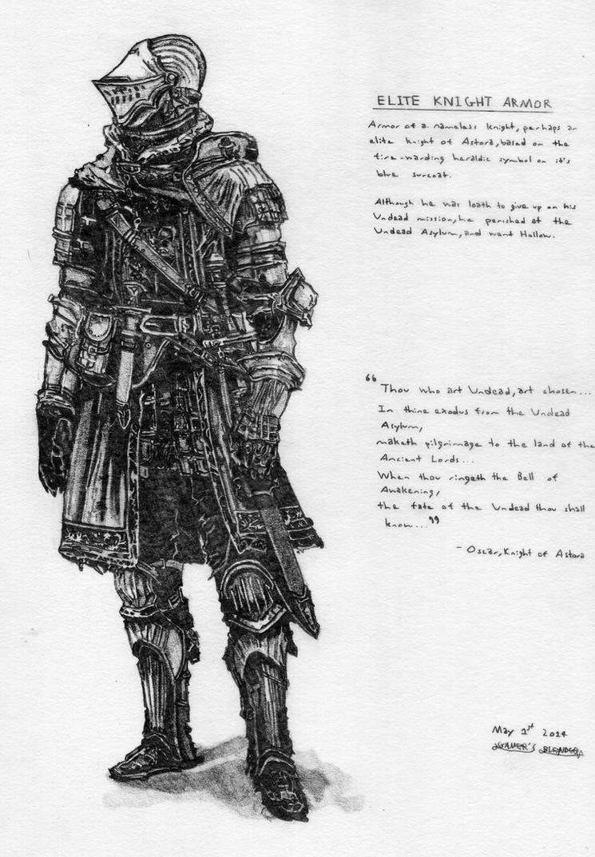 Dark Souls Elite Knight Armor by Gamers-Blended