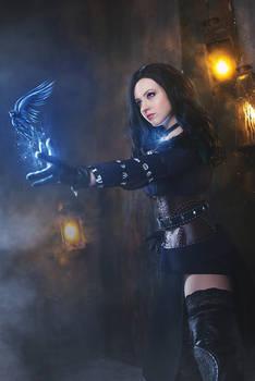 Yennefer cosplay postproduction