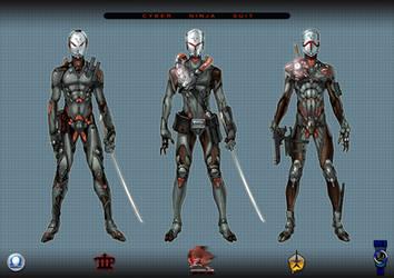 Cyber ninja_01 by Popov-SM