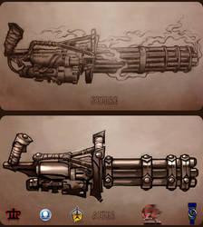 Minigun tattoo concept. by Popov-SM