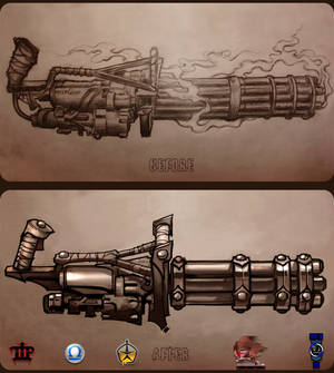 Minigun tattoo concept.