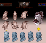 Medieval Battle Arena. Barbarian head profile. by Popov-SM