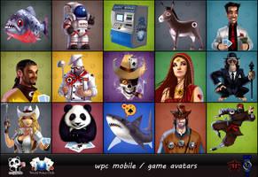 WPC MOBILE game avatars.