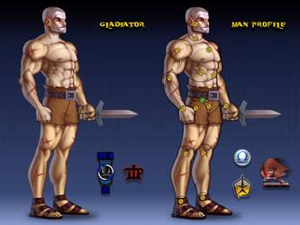 Gladiator Man Profile by Popov-SM