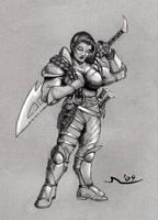 Dwarven Blade Maiden by MisterAozame