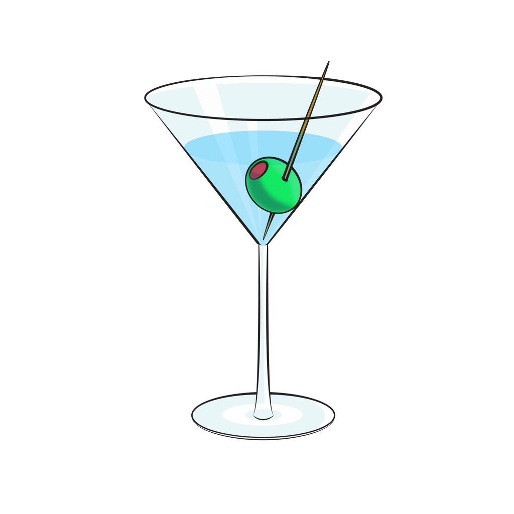 cartoon martini by deathbycartoon on deviantart clipart martini glass martini glass clipart black and white