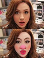 Karen Clown B and A by oneeyedollar