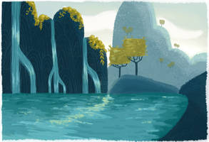 Lagoon by CarolineDoodles