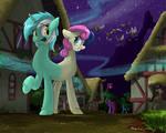 Lyra and Bon Bon of the Dream World