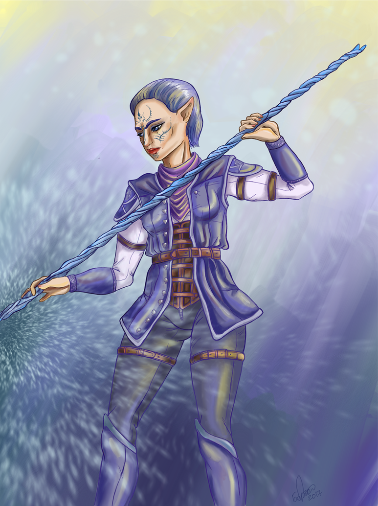 Ice mage by zoiocen