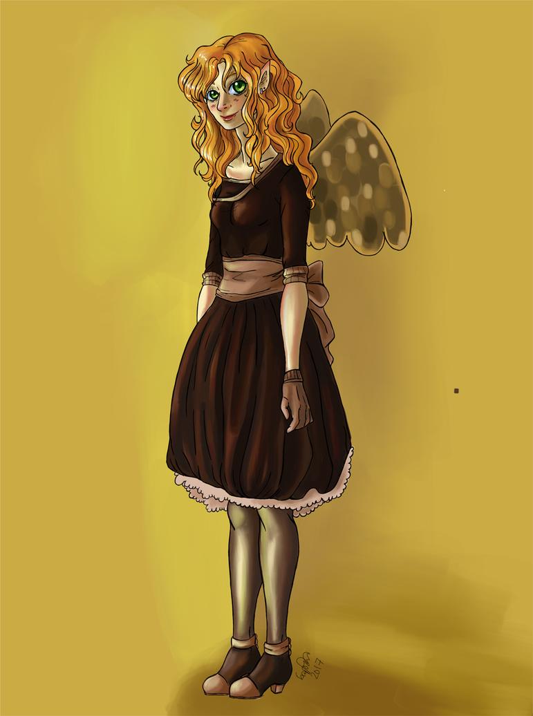 Io in a dress. Sketch. by zoiocen