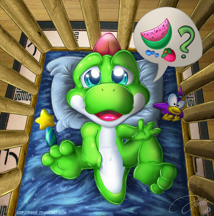 Baby Yoshi by DaXXe on DeviantArt
