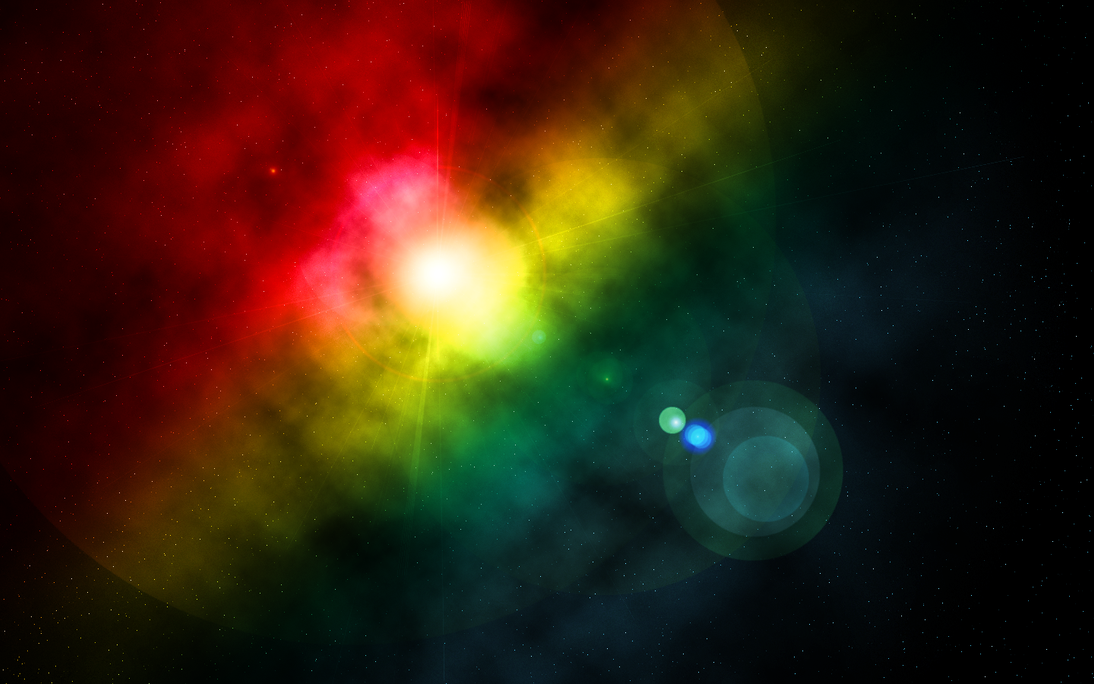 space rainbow desktop backgrounds - photo #5